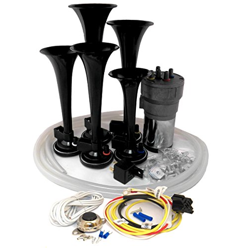 OEMLINK International LTD Dixie Air Horn Black - Dixieland Premium Full 12 Note Version with Installation Wire Kit and Button
