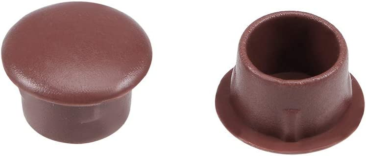 uxcell Shelf Peg Hole Plugs 10mm Import Tube Plastic Cover fo Limited price Brown Dia