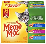 Meow Mix Seafood Selections Wet Cat Food, Variety Pack, 2.75 Ounces Cup (Pack of 24)