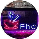ADVPRO Pho Vietnamese Noodles Restaurant Dual Color LED Neon Sign Red & Blue 16' x 12' st6s43-i0459-rb
