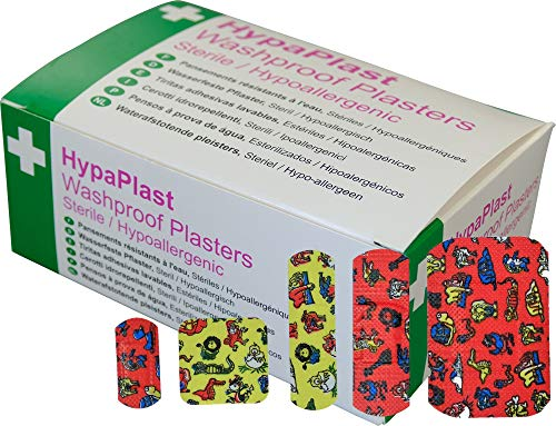 HypaPlast Children's Washproof Plasters, Assorted (Pack of 100)