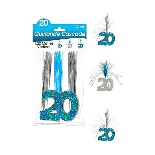 Surprisez vous - Guirlande cascade 20 ans bleue - 1,20 m