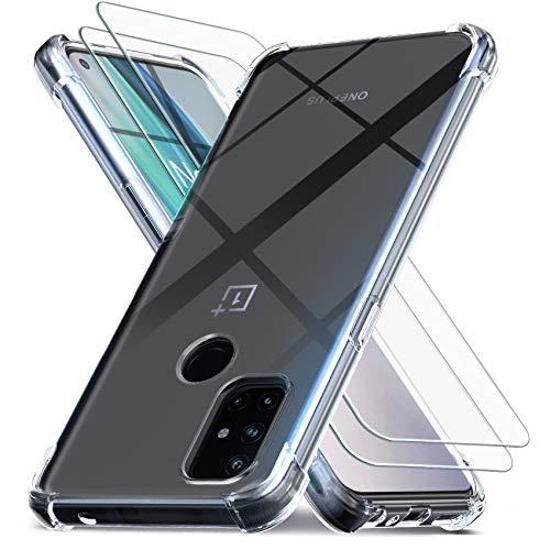 Ferilinso Hülle für OnePlus N10 5G / OnePlus Nord N10 5G [Kompatibel mit Panzerglas Schutzfolie] [Klar Silikon Handy Hüllen] [Stoßfest Kratzfest ] [Shock Absorption Schutzhülle] [Bumper Crystal]