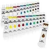 com-four 24x Pintura al óleo 12ml, Tubos básicos para Pintura al óleo, Excelentes Colores con Alta opacidad, para Principiantes y avanzados