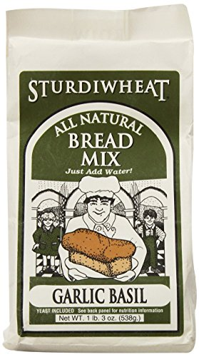 Sturdiwheat All Natural Bread Mix, Garlic Basil, 19-Ounce Package (Pack of 4)