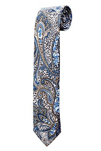 Cravate bleue à motifs bandana paisley DESIGN costume homme mariage