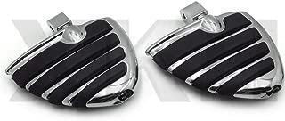 XKH- Compatible with Honda Fury VT1300 Aero Shadow Phantom Spirit Wing Mini Floorboards with Adapters [B07NSJ495S]