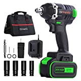 Cordless Impact Wrench - GOXAWEE 20V Electric Impact...