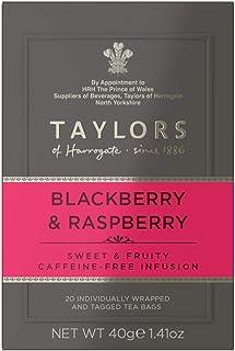Taylors of Harrogate Blackberry & Raspberry Herbal Tea, 20 Count (Pack of 6)