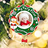 Baby's First Christmas Ornament Gifts 2020 My Very First Christmas Picture Frame Photo Plaque