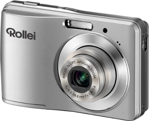 Rollei Compactline 302 Digitalkamera (12 Megapixel, 3-Fach Opt. Zoom, 6,85 cm (2,7 Zoll) Display, HD-Video-Auflösung) Silber