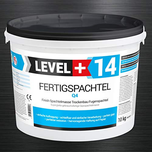 10 kg Fertigspachtel Spachtelmasse Glättspachtel Fugenspachtel reinweiss Weiß RM14