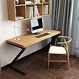 N/Z Equipo Diario Escritorio de computadora Mesa de computadora de Madera Maciza Escritorio de computadora en Forma de Z para Estudio Dormitorio en casa (Color: Madera Tamaño: 120 x 60 x 75 cm)