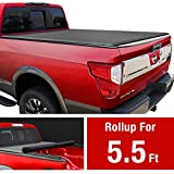 MaxMate Soft Roll Up Truck Bed Tonneau Cover Compatible with 2004-2015 Nissan Titan Without Titan Box | Fleetside 5.5' Bed