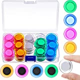 45 Pieces Whiteboard Magnets Round Magnets Circle Whiteboard Magnets Mini Fridge Magnet for Home Schools Offices (Assorted Colors)