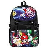 Bonamana Cartoon Super Mario Rucksack Anime Schultasche Rucksack für Jugendliche (Super Mario-A)