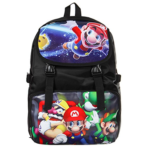 Bonamana Cartoon Super Mario Backpack Anime School Bag Rucksack for Teens