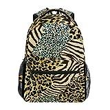 Funnyy Animal Tiger Zebra Leopard Print Mochila de Viaje Escuela Bolsa de Hombro Bookbag para niños niñas niños Hombres Mujeres