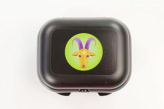 Tupperware To Go Mini Twin P 18212 - Fiambrera, diseño con Signo del Zodiaco, Color Negro