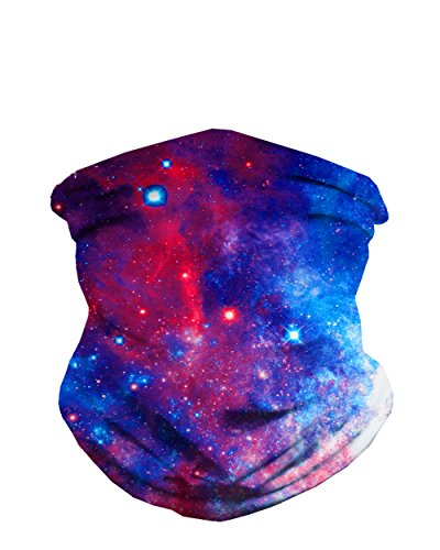 iHeartRaves Space Galaxy Print Neck Gaiter Face Scarf Mask Bandana Gator