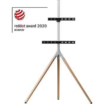 """Soporte de televisor universal tipo trípode One For All – Pantallas de tamaño 32-65""""- LCD/LED/Plasma/OLED/QLED TVs – 360° de giro y altura ajustable – VESA 400x400 – Diseño elegante: Amazon.es: Electrónica"""