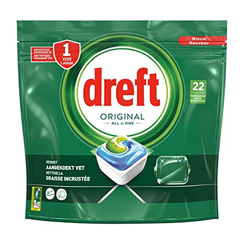 Dreft Original All In One Lavavajillas Cápsulas Regular, 22 Cápsulas