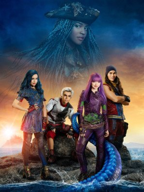 Import Posters Descendants 2 – US Textless Movie Wall Poster Print - 30CM X 43CM