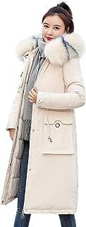 URIBAKE Women's Winter Thickening Down Jacket Long Pocket Fur Collar Coat Outwear