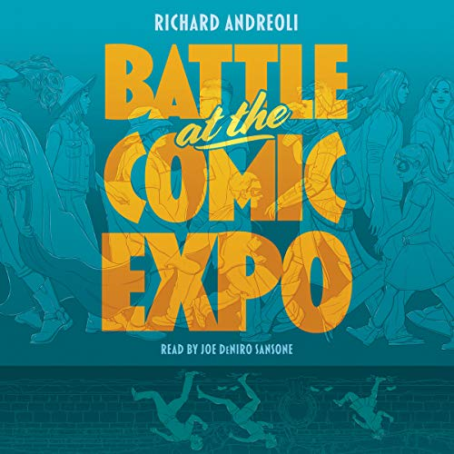 Battle at the Comic Expo audiobook cover art