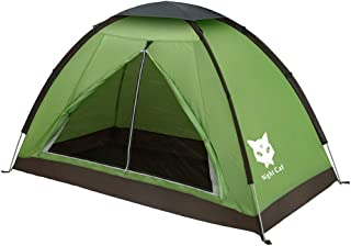 Night Cat Backpacking Tent for One Person Waterproof Single Layer Hiking Camping Tent for Adults Kids Scouts Easy Setup 2.2x1.2m