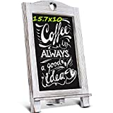 Homemaxs 15.7 X 10 Chalkboard Signs, Rustic Magnetic Tabletop Chalk Board with Frame and Hanging String, Easel Countertop Memo Decor Board for Wedding, Kitchen, Birthdays, Drawing, Coffee Shop