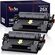 XINSIN Compatible Replacement for HP 26X CF226X 26A CF226A Toner Cartridges Combo Pack for Laserjet Pro M402N M402DW M402DN MFP M426FDW M426DW M426FDN M402 M426 Printer (Black, 2-Pack)