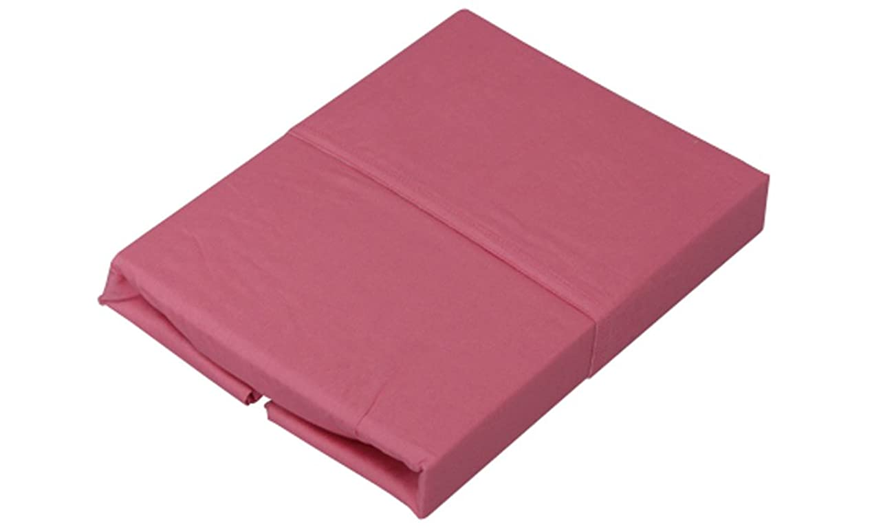 まあパノラマストリップアイリスオーヤマ ボックスシーツ 綿100% シングル 100×200×25cm ピンク CMB-S