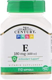Vitamin E, 180 mg (400 IU), Healthy Heart & Immune System, 110 Softgels