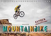 Mountainbike extrem (Tischkalender 2021 DIN A5 quer): Mountainbiking, Trendsportart mit viel Potential fuer Nervenkitzel. (Monatskalender, 14 Seiten )