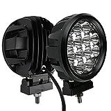 Audak 2Pcs 60W Spot Beam 6 Inch Round LED Work Light Driving Lights Spotlights for Off Road 4x4 Pickup Truck