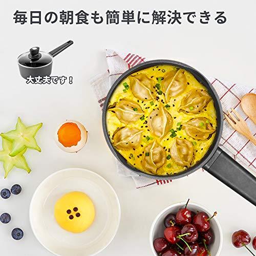 SKY LIGHT 片手鍋 18cm ミルクパン ガス・IH対応 5層コーティング ソースパン ガラス蓋付き 食器洗機対応