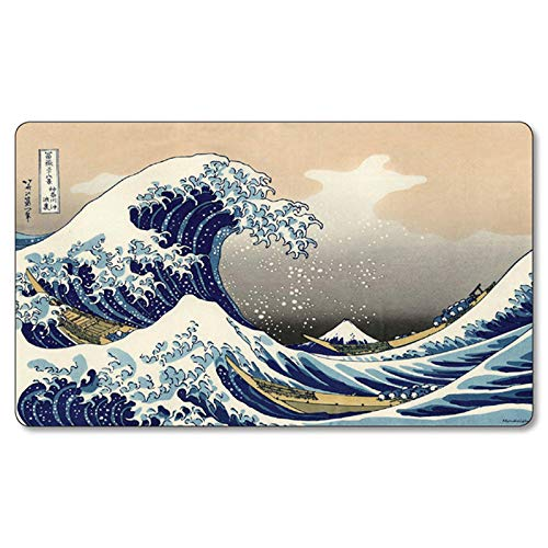 playmats The Great Waves Board Cards Games Play Mat Table pad Size 60x35 cm Mousepad playmats with Waterproof Storage Bag for MTG ygo CCG TCG yugioh Pokemon Magic The Gathering
