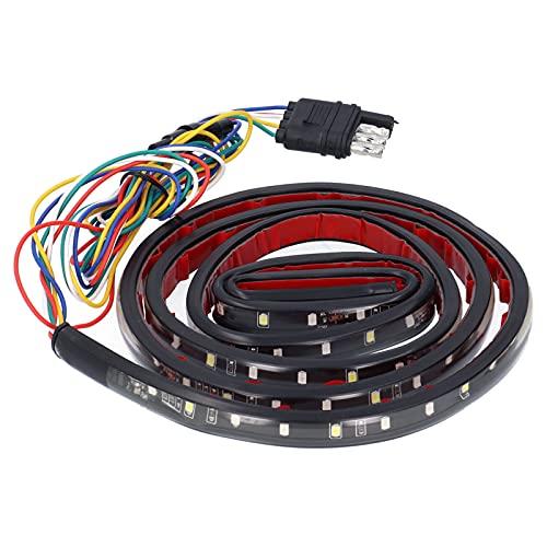 Tira de luz blanca roja de 60 pulgadas, 5 modos, IP67, luces LED impermeables para camiones, barra de tira de luz con conector de 4 pines para camioneta