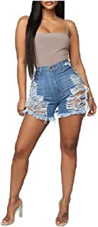 SportsX Womens Hot Shorts Jeans Denim Tassel High Waisted Shorts