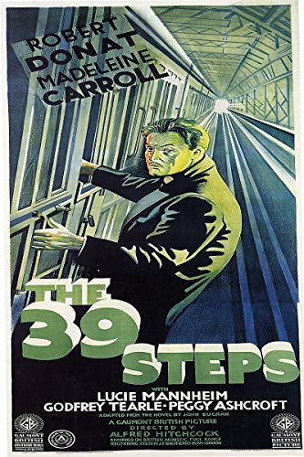 American Gift Services - The 39 Steps Vintage Robert Donat Movie Poster - 11x17
