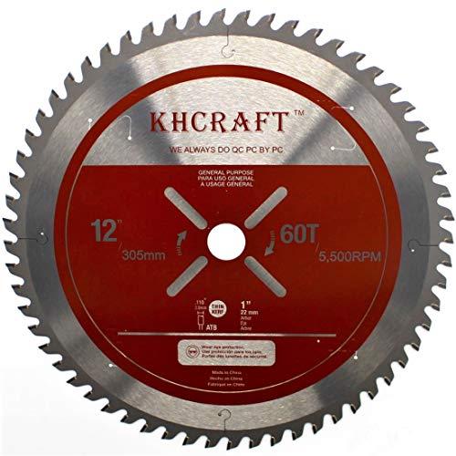 Khcraft 12-inch Laser-Cut Miter Saw Blade