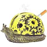 GFF Aschenbecher, Vintage-Design, modisch, kreativ, Schnecken-Aschenbecher, Dekoration, Aschenbecher, Gelb gelb