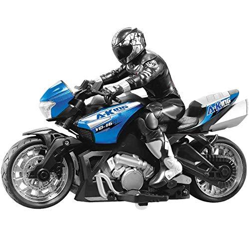 MAFANG® 2.4Ghz Racing High-Speed-Fernbedienung Drift Motorrad Erstellen Sie Moto RC Motorrad Elektrisches Spielzeugauto-Motorrad-Geschenk Für Kinder Und Erwachsene Unterschiedlichen Alters,Blau