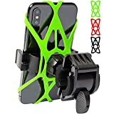 Mongoora Bike & Motorcycle Phone Mount w/ 3 Bands (Black, Red, Green) Cell Phone Holder...