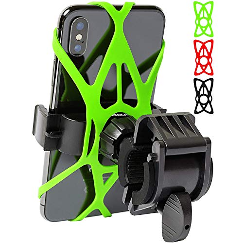 Mongoora Bike & Motorcycle Phone Mount w/ 3 Bands (Black,...