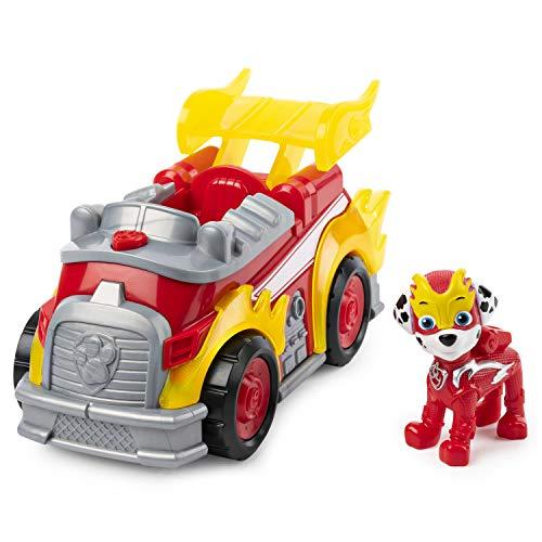 Paw Patrol – Vehículo de Lujo con Luces y Sonidos, Mighty Pups, Marshall, Multicolor