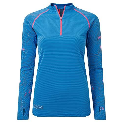 Omm Flow Zip T-Shirt Manches Longues pour Femme L Bleu
