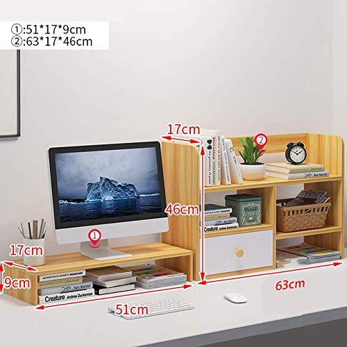 Desk Computer Monitor Stand Toetsenbord Opslag Bureau Organizer Ergonomische Hout Monitor Stand Riser Wit Groep-a groep-B-Light walnoot