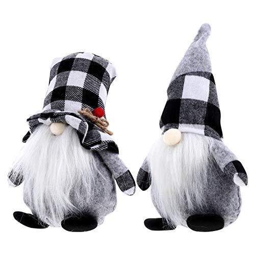 ARTIBETTER 2pcs Christmas Gnomes Plush Handmade Swedish Santa Gnome Scandinavian Tomte Gnome Figurines Decor Gift Christmas Decorations